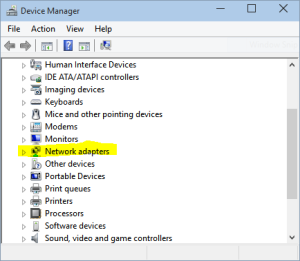 Windows 10 Device Manager dialog box